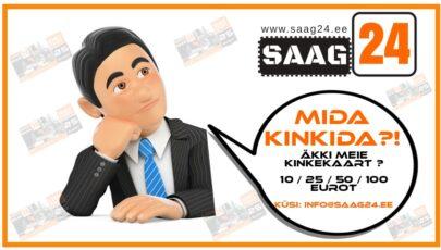 Nüüd saadaval ka Saag24 kinkekaardid!